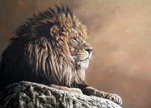 油画世界 英国艾伦·亨特猛兽动物画插图31