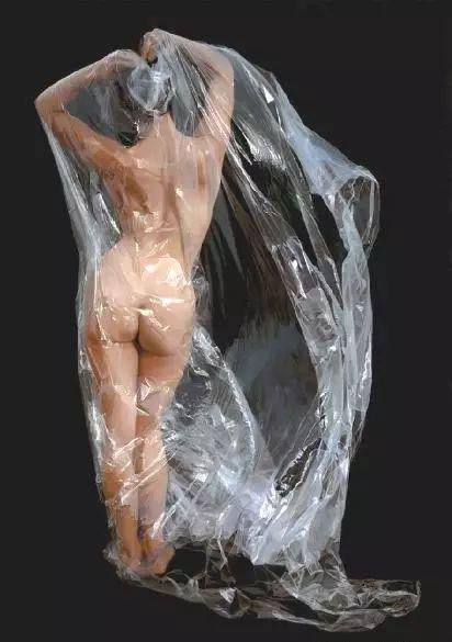 油画世界 裹在塑料薄膜里的超写实人物肖像画插图3