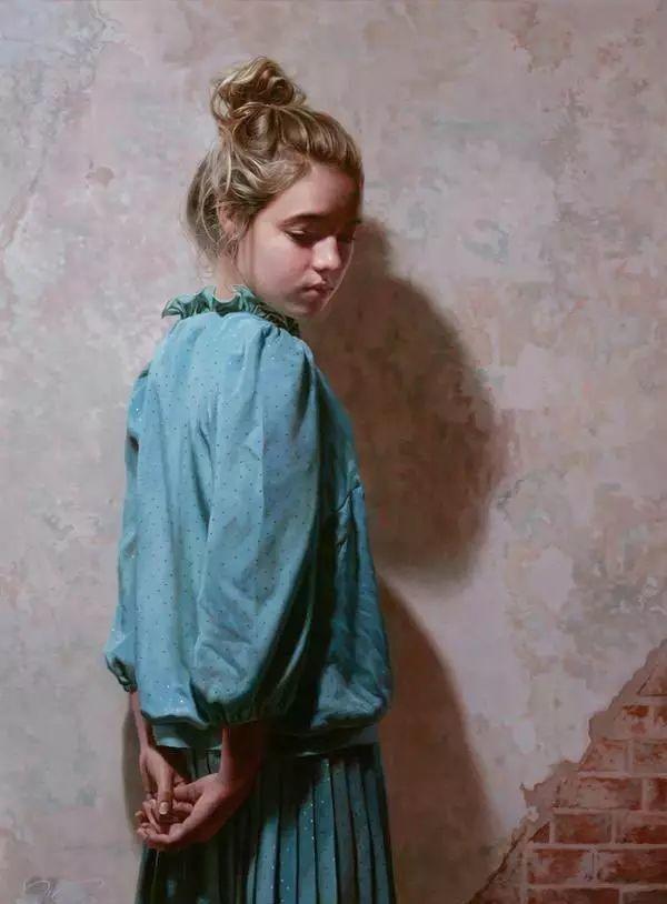 油画世界 裹在塑料薄膜里的超写实人物肖像画插图7