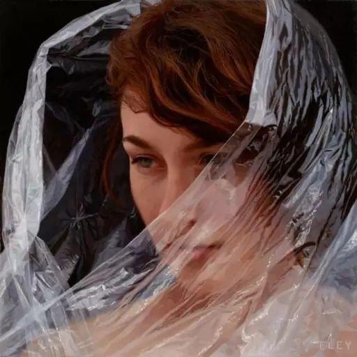 油画世界 裹在塑料薄膜里的超写实人物肖像画插图11