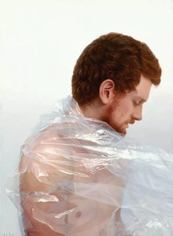 油画世界 裹在塑料薄膜里的超写实人物肖像画插图21