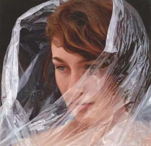 油画世界 裹在塑料薄膜里的超写实人物肖像画插图27