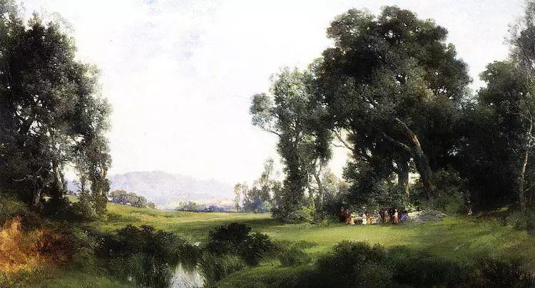 美 托马斯·莫兰风景画选插图33
