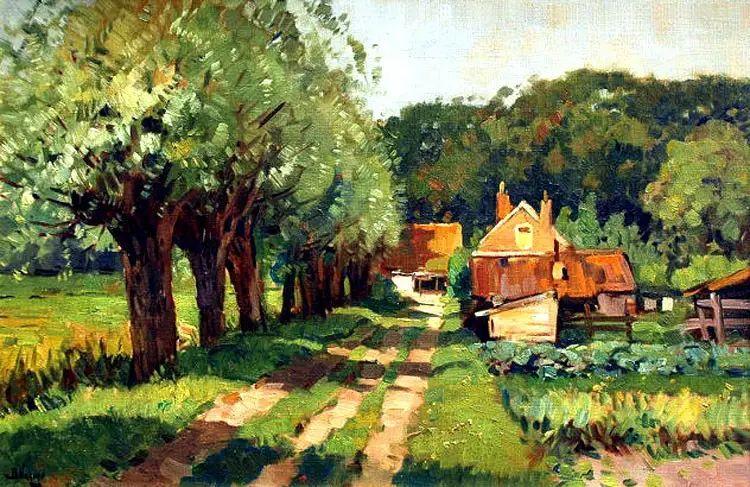 荷兰Ben Viegers风景油画作品插图1