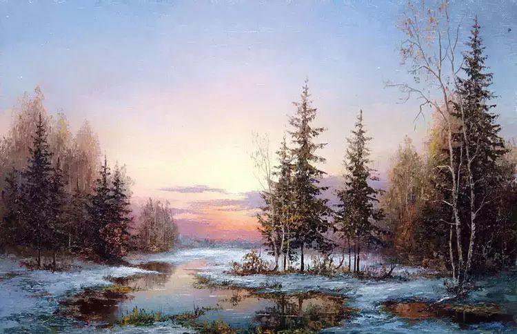 俄罗斯Eugene Burmakin风景画欣赏插图5