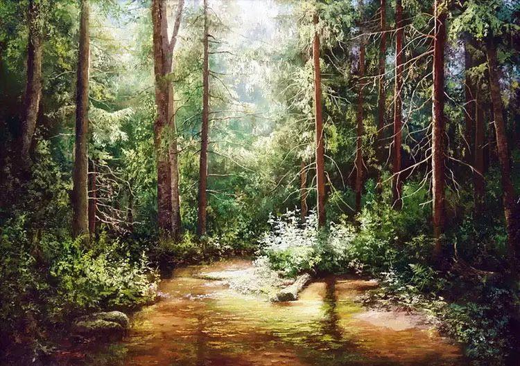 俄罗斯Eugene Burmakin风景画欣赏插图17