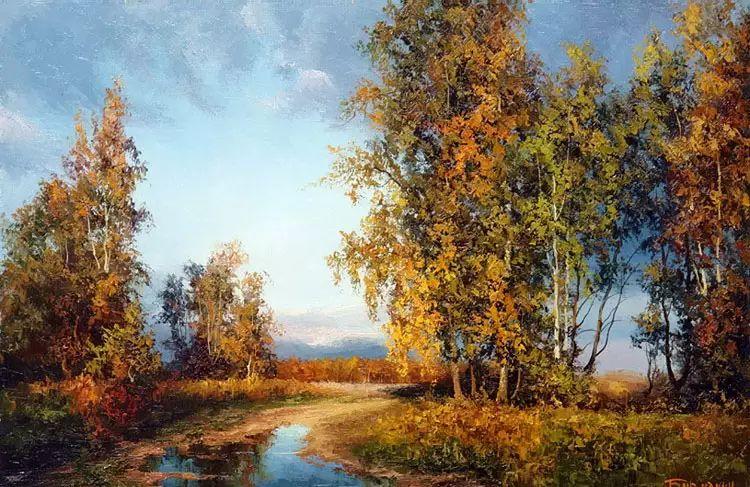 俄罗斯Eugene Burmakin风景画欣赏插图25