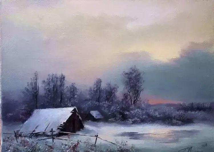 俄罗斯Eugene Burmakin风景画欣赏插图29