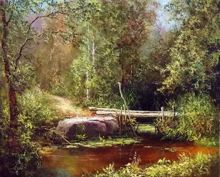 俄罗斯Eugene Burmakin风景画欣赏插图43