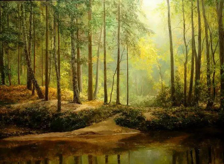 俄罗斯Eugene Burmakin风景画欣赏插图45