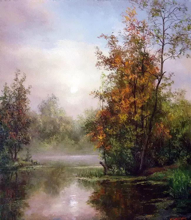 俄罗斯Eugene Burmakin风景画欣赏插图49
