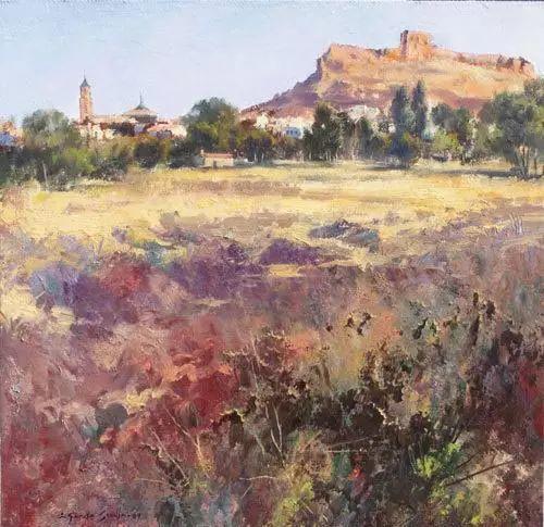 西班牙画家费尔米 garcia sevilla风景画欣赏插图9
