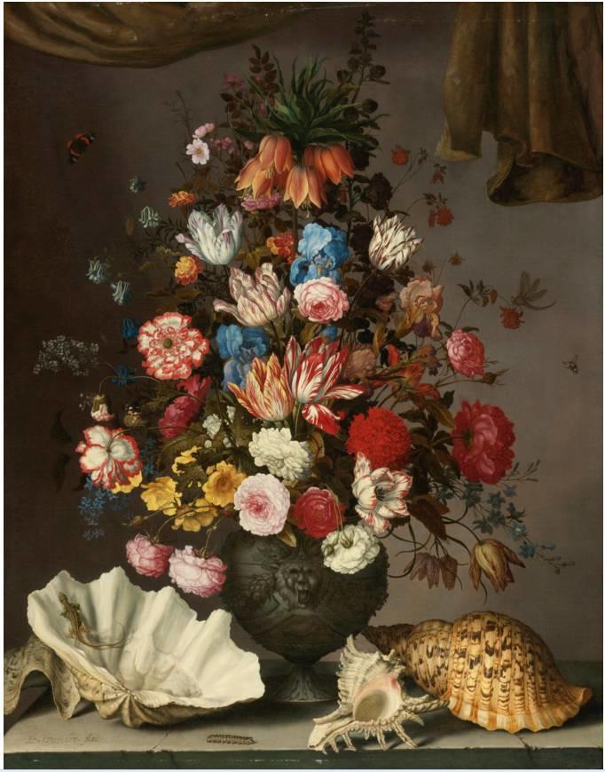 花卉静物 荷兰画家Balthasar van der Ast作品插图3