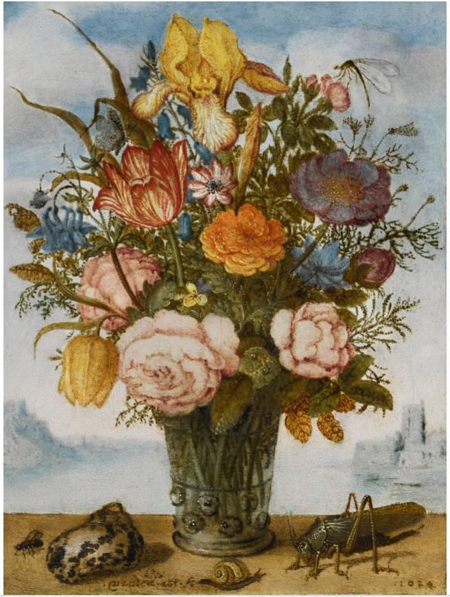 花卉静物 荷兰画家Balthasar van der Ast作品插图9
