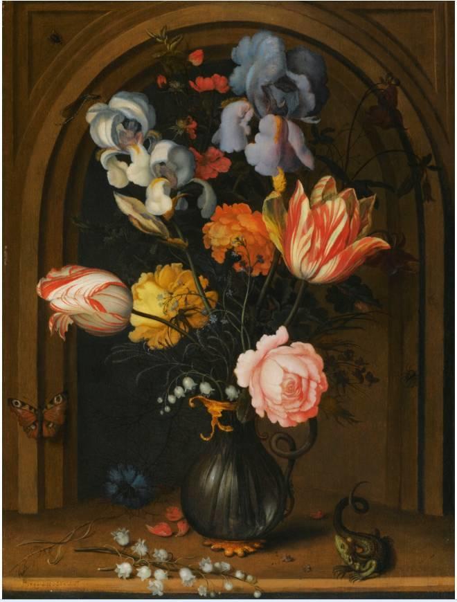 花卉静物 荷兰画家Balthasar van der Ast作品插图21