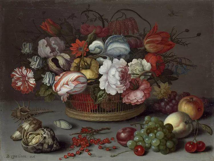 花卉静物 荷兰画家Balthasar van der Ast作品插图75