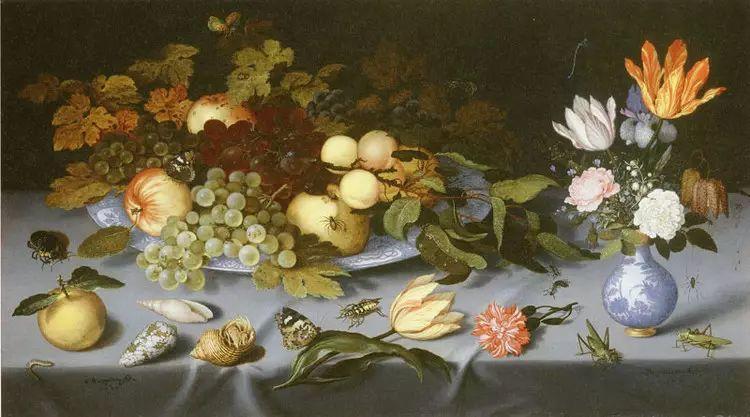 花卉静物 荷兰画家Balthasar van der Ast作品插图93