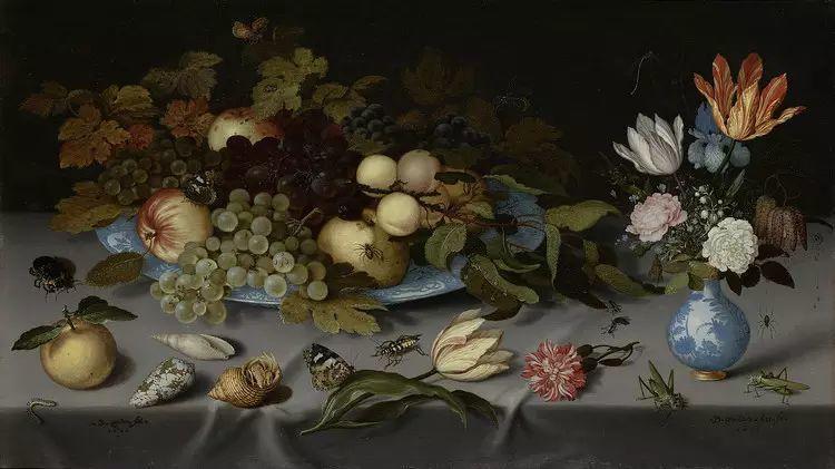 花卉静物 荷兰画家Balthasar van der Ast作品插图95