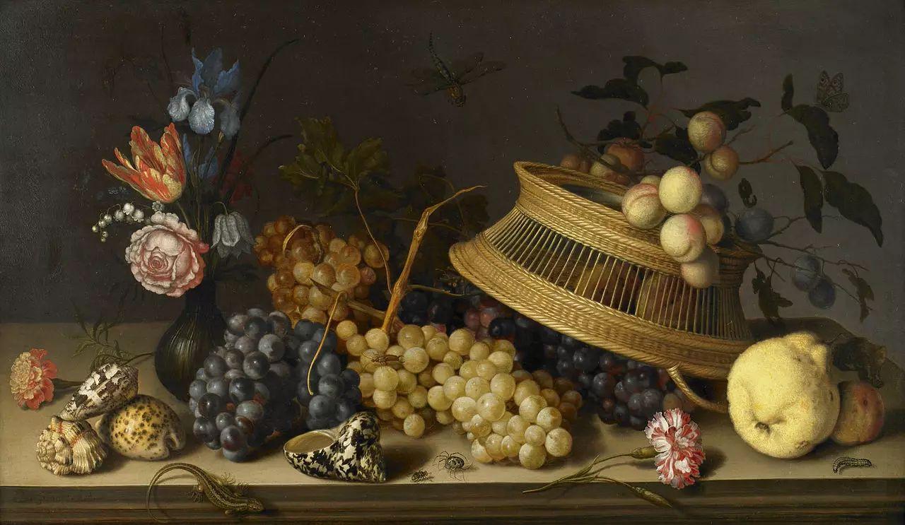 花卉静物 荷兰画家Balthasar van der Ast作品插图97