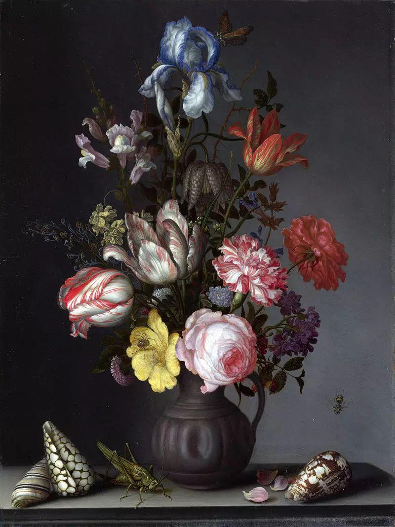 花卉静物 荷兰画家Balthasar van der Ast作品插图99