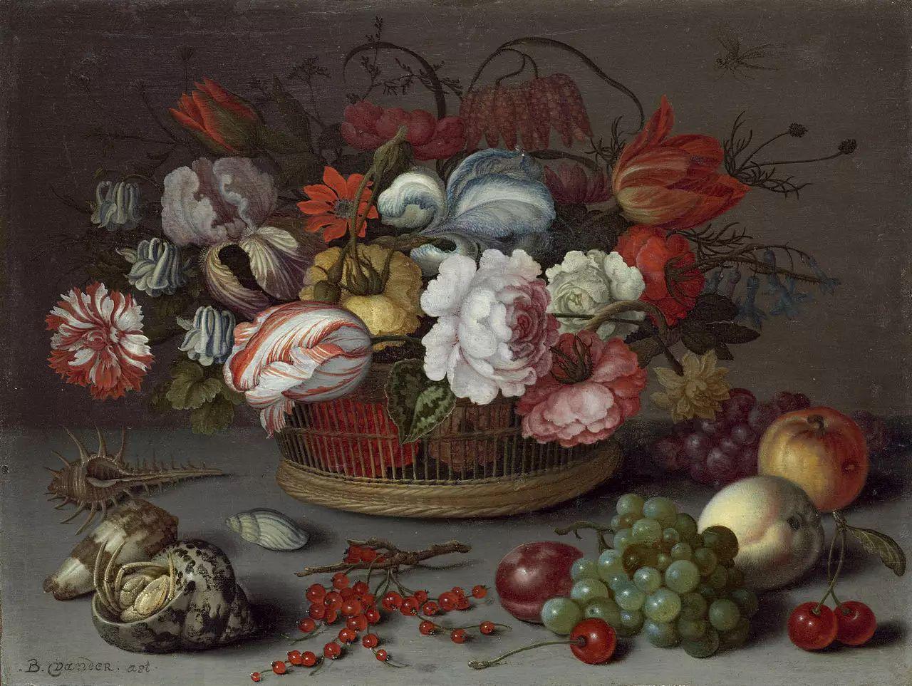 花卉静物 荷兰画家Balthasar van der Ast作品插图103