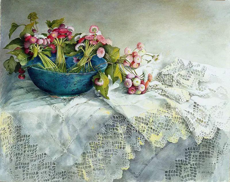 静物油画 瑞士Fereshte Shishine作品插图9