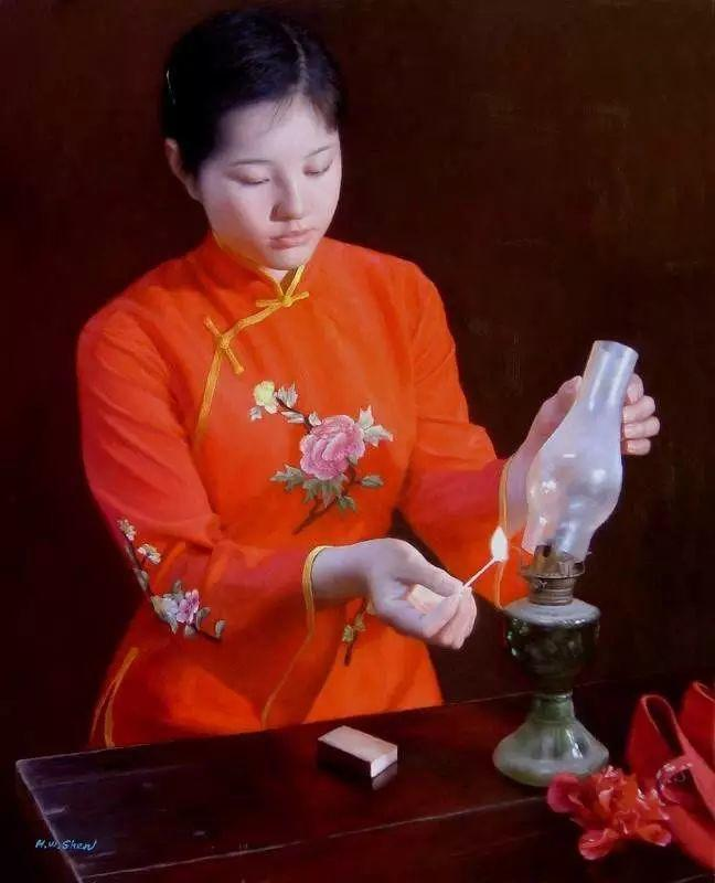 描绘早期中国的油画作品插图3