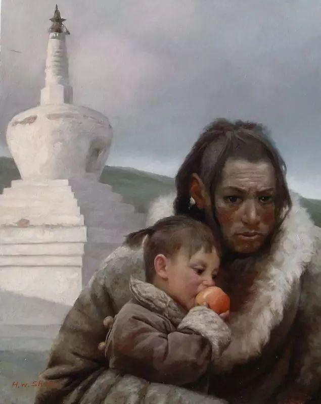 描绘早期中国的油画作品插图37
