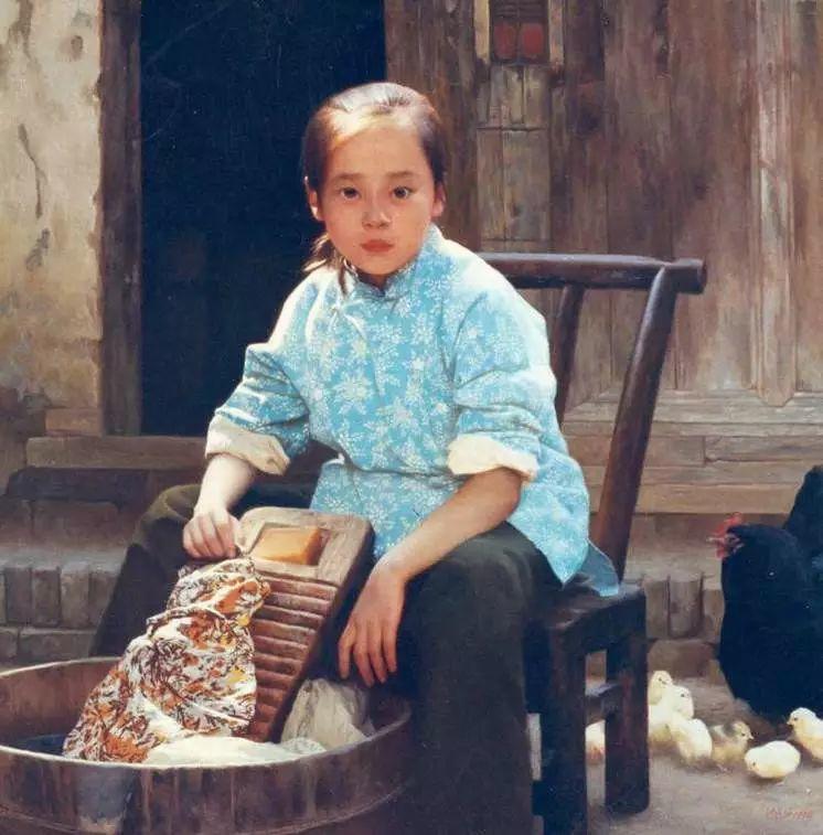 描绘早期中国的油画作品插图69