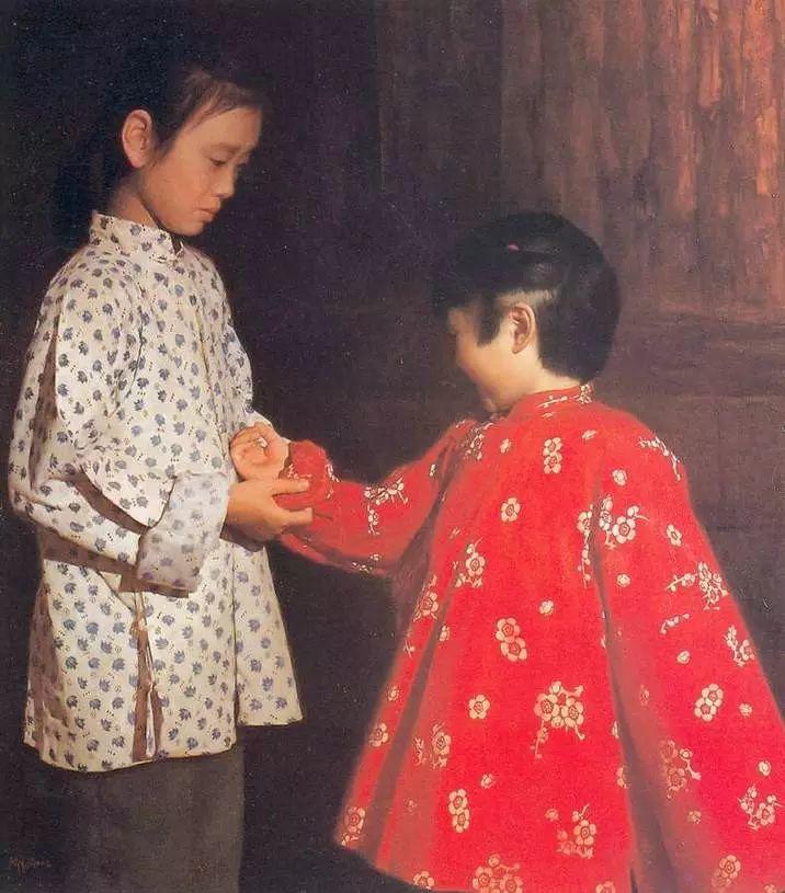 描绘早期中国的油画作品插图111
