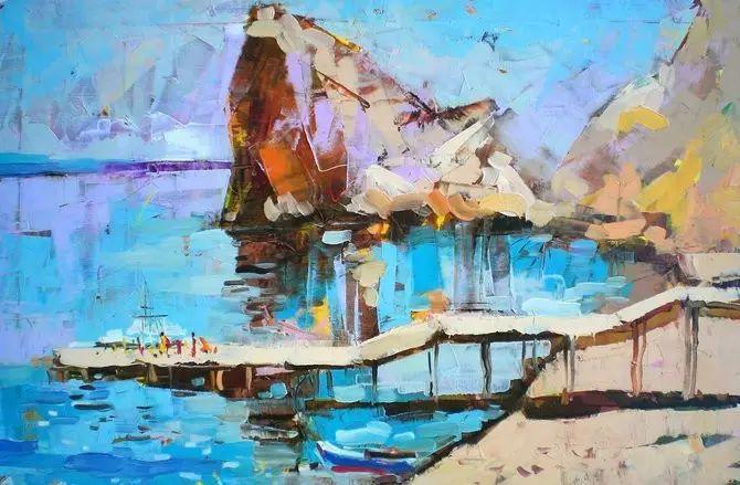 保加利亚画家Lyubomir Kolarov刀画作品插图74