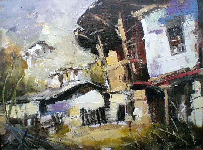 保加利亚画家Lyubomir Kolarov刀画作品插图116