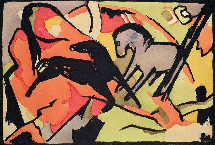 画风原始神秘 弗朗兹·马尔克Franz Marc插图7