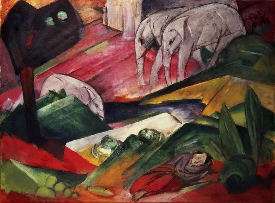 画风原始神秘 弗朗兹·马尔克Franz Marc插图21