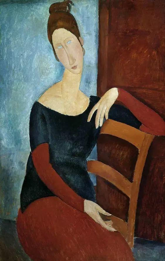 优美弧形人物肖像 意大利画家Amedeo Modigliani插图3