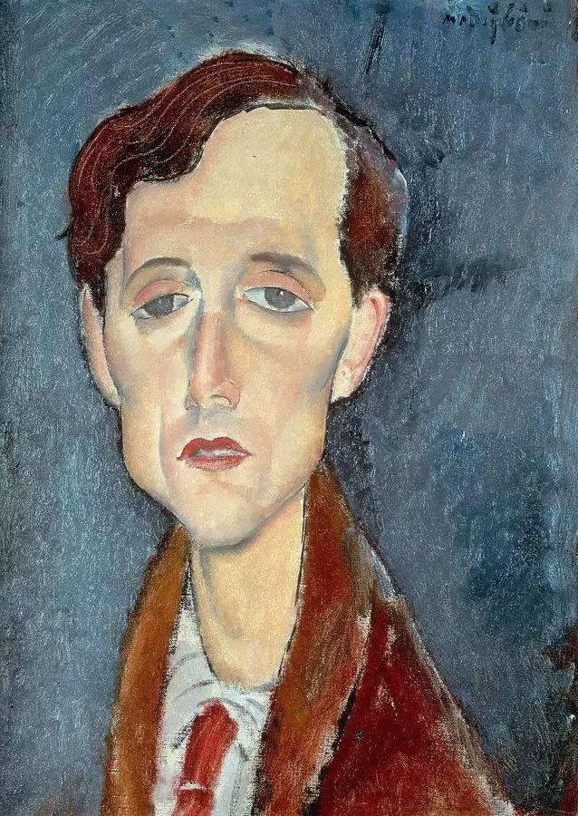 优美弧形人物肖像 意大利画家Amedeo Modigliani插图5