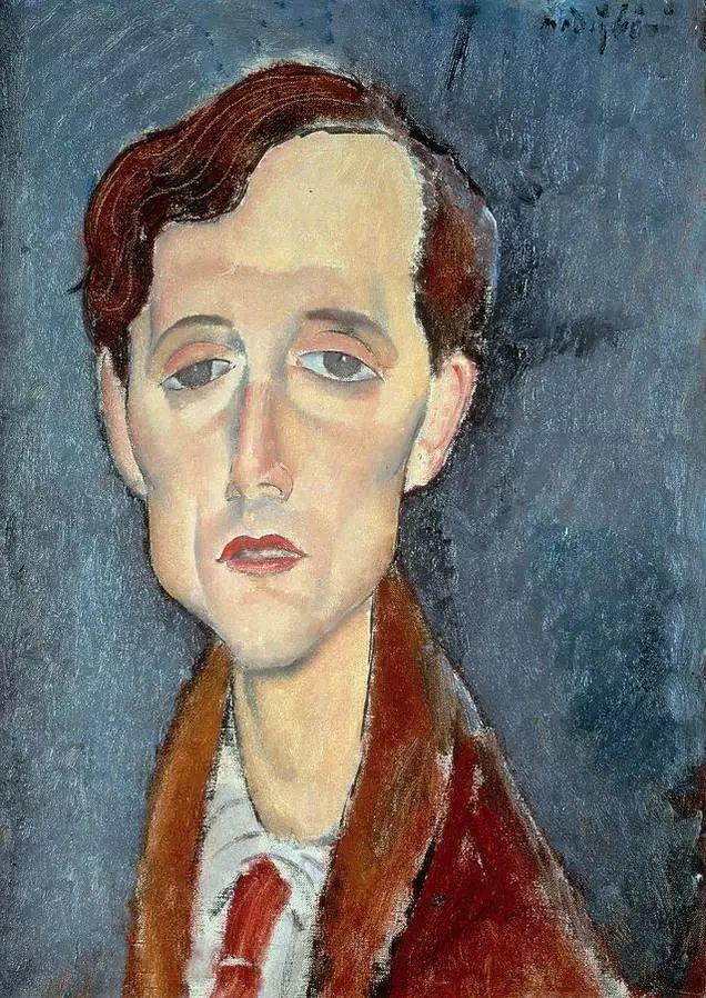 优美弧形人物肖像 意大利画家Amedeo Modigliani插图7