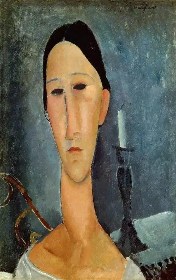 优美弧形人物肖像 意大利画家Amedeo Modigliani插图9