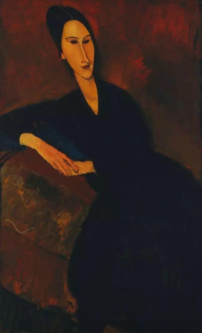 优美弧形人物肖像 意大利画家Amedeo Modigliani插图11