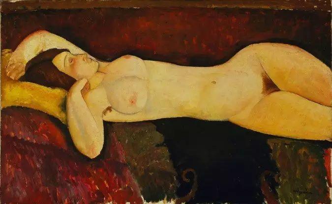 优美弧形人物肖像 意大利画家Amedeo Modigliani插图13