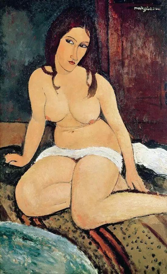 优美弧形人物肖像 意大利画家Amedeo Modigliani插图15