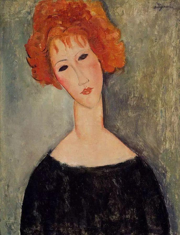 优美弧形人物肖像 意大利画家Amedeo Modigliani插图17