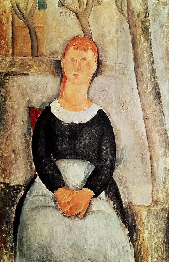优美弧形人物肖像 意大利画家Amedeo Modigliani插图23