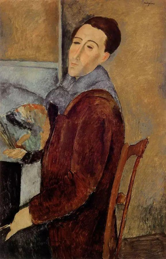 优美弧形人物肖像 意大利画家Amedeo Modigliani插图25