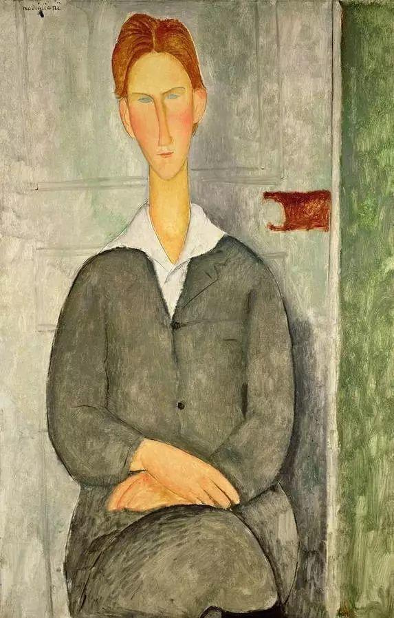 优美弧形人物肖像 意大利画家Amedeo Modigliani插图27