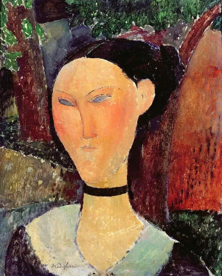 优美弧形人物肖像 意大利画家Amedeo Modigliani插图29