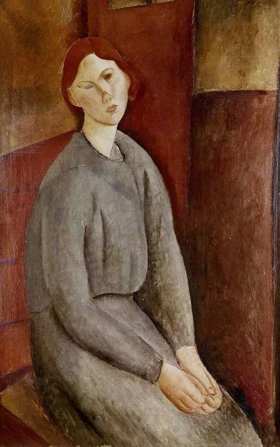 优美弧形人物肖像 意大利画家Amedeo Modigliani插图31
