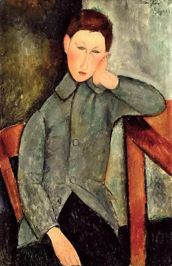 优美弧形人物肖像 意大利画家Amedeo Modigliani插图33