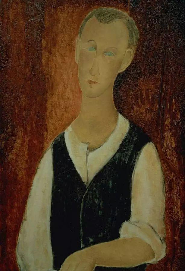 优美弧形人物肖像 意大利画家Amedeo Modigliani插图35