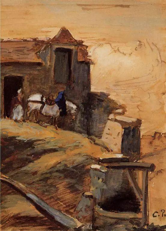 法国印象派画家卡米耶·毕沙罗油画作品插图3
